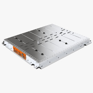 3D model electric cars battery