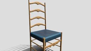 3D kitchen chair model