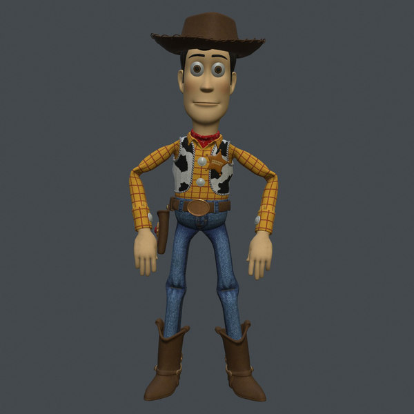 rigged woody 3D model