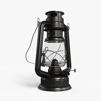 oil lamp lights 3D model