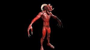 3D infernal demon character games