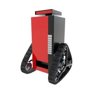 soda machine tank robot 3D model