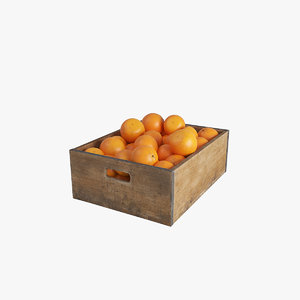 3D fruit orange crate
