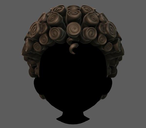 hair style boy v63 3D