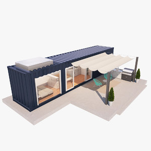 3D container house model