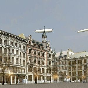 scene historic city 3D