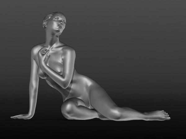 nu nude 3D model