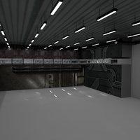hangar sci fi 3D model