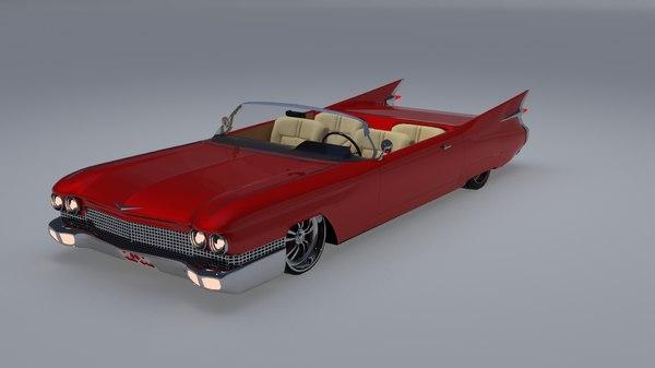 custom car cadillac eldorado 3D model