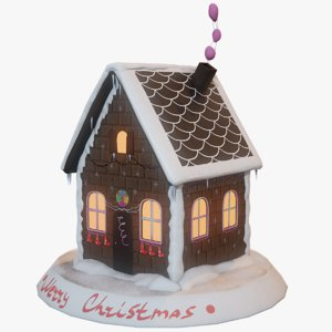 gingerbread house 3D model