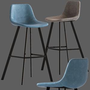 3D linea furniture abigayle barstool model
