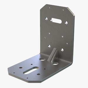 3D angle mount pipe brackets