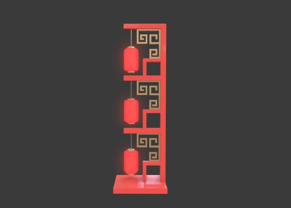 3D chinese lantern road lead
