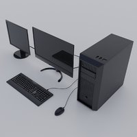 3D model modern computer realistic