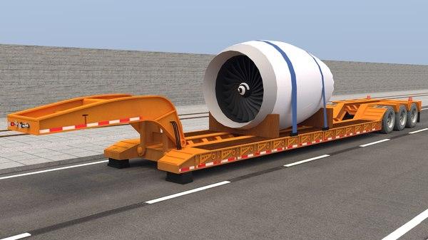 trailer jet engine model