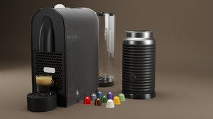 3D nespresso machine espresso