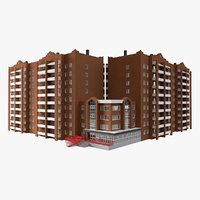 residential city apartment building model