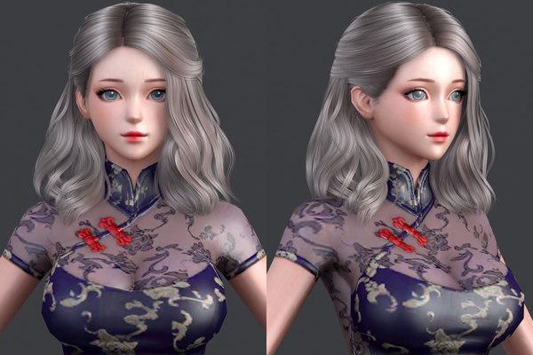 3D model character hair