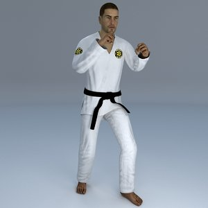 rigged jiu jitsu martial 3D