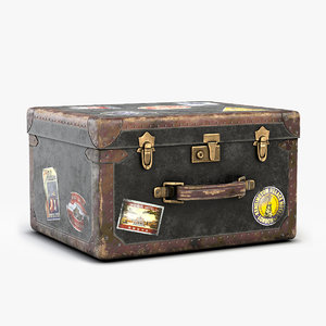 3D old luggage model
