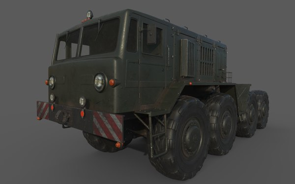 3D soviet maz 537 model