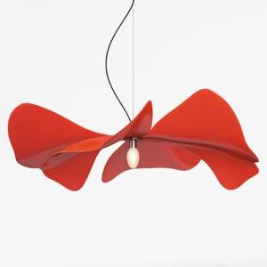 3D model papavero raggiante
