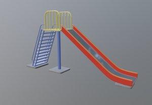 3D model metallic colors parkslide