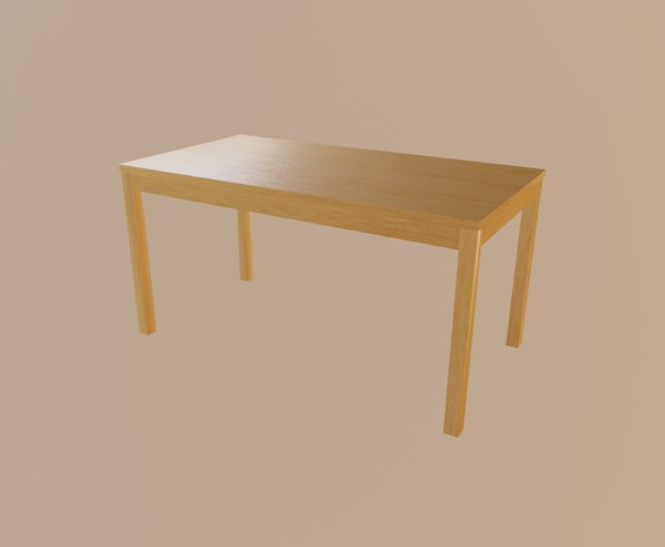 orange table 3D model