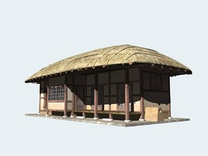 thatched house korea model