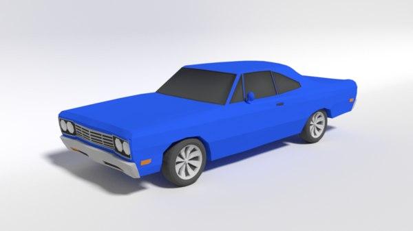 3D model plymouth roadrunner car