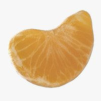 peeled slice tangerine 3D model