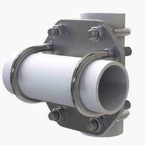 pipe crossover plate kit 3D model