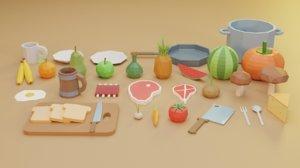 3D pack food