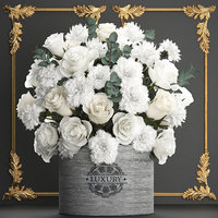 3D bouquet flowers gift box