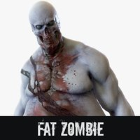 rigged fat zombie 3D model