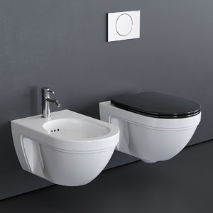 wall-hung canova royal toilet 3D