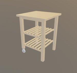wooden metal wheel 3D model
