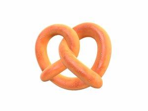 pretzel cartoon 3D