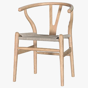 hans wegner wishbone chair 3D