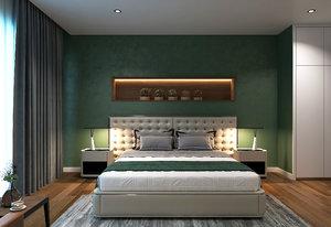 3D modern interior bedroom