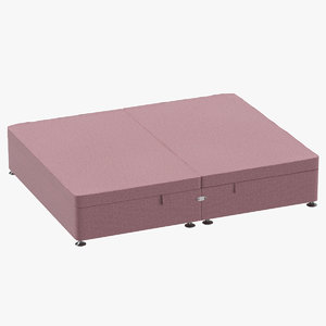 bed base 07 blush 3D model