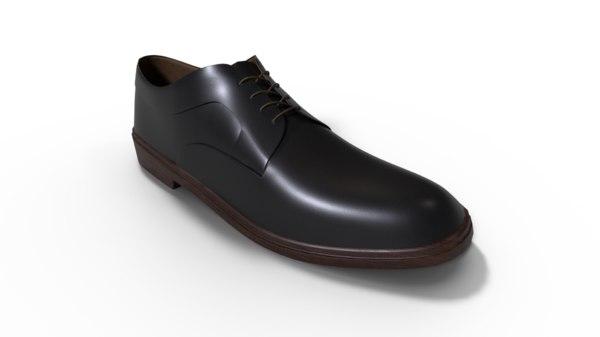 3D oxford shoe
