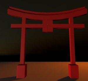 japanese tori gate model