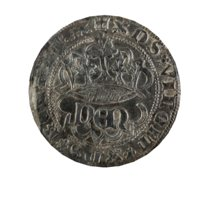 3D old ancient medieval coin model