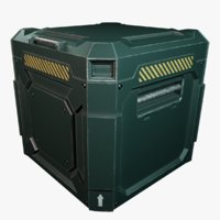 sci-fi industrial crate container model