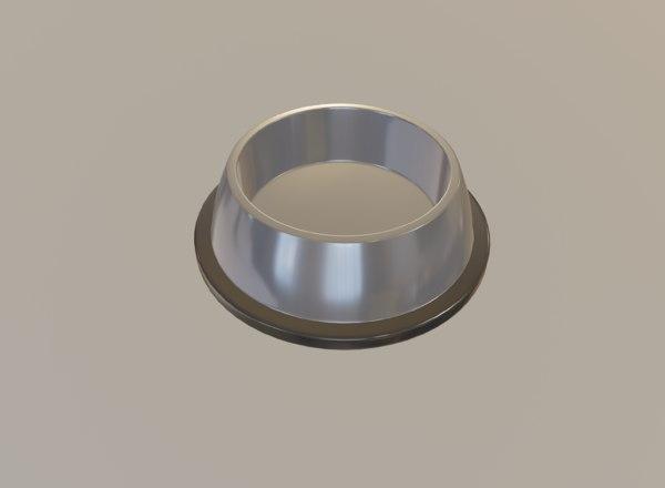 3D grey bowl model