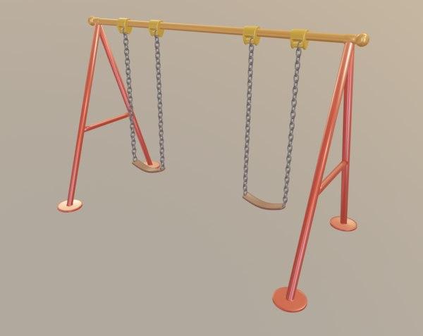 3D colors metal chain