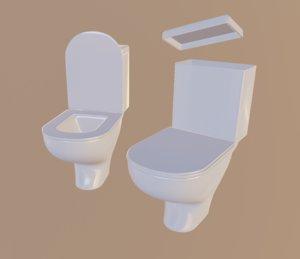 white toilet 3D model