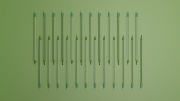 pattern pencils green pink model