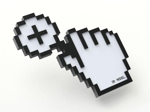 3D cursor creative magnifier model
